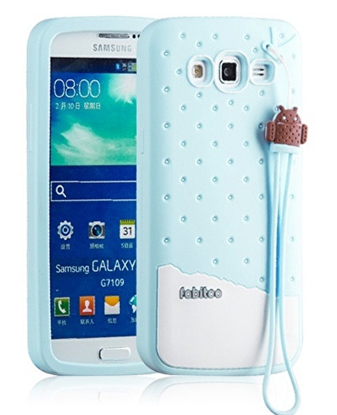 Fabitoo Samsung Galaxy Grand 2 Candy Kılıf  Turkuaz